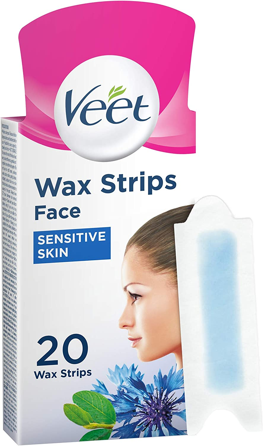 Veet Face Cold Wax Strips for Sensitive Skin