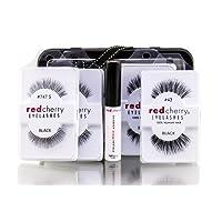 Red Cherry Wimpern 2x Nr. 43, Nr. 2x 747S und Eyelash Adhesive SET