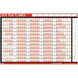 2018 A1 Laminated Yearly Wall Planner Calendar With Wipe Dry Pen & Sticker Dots