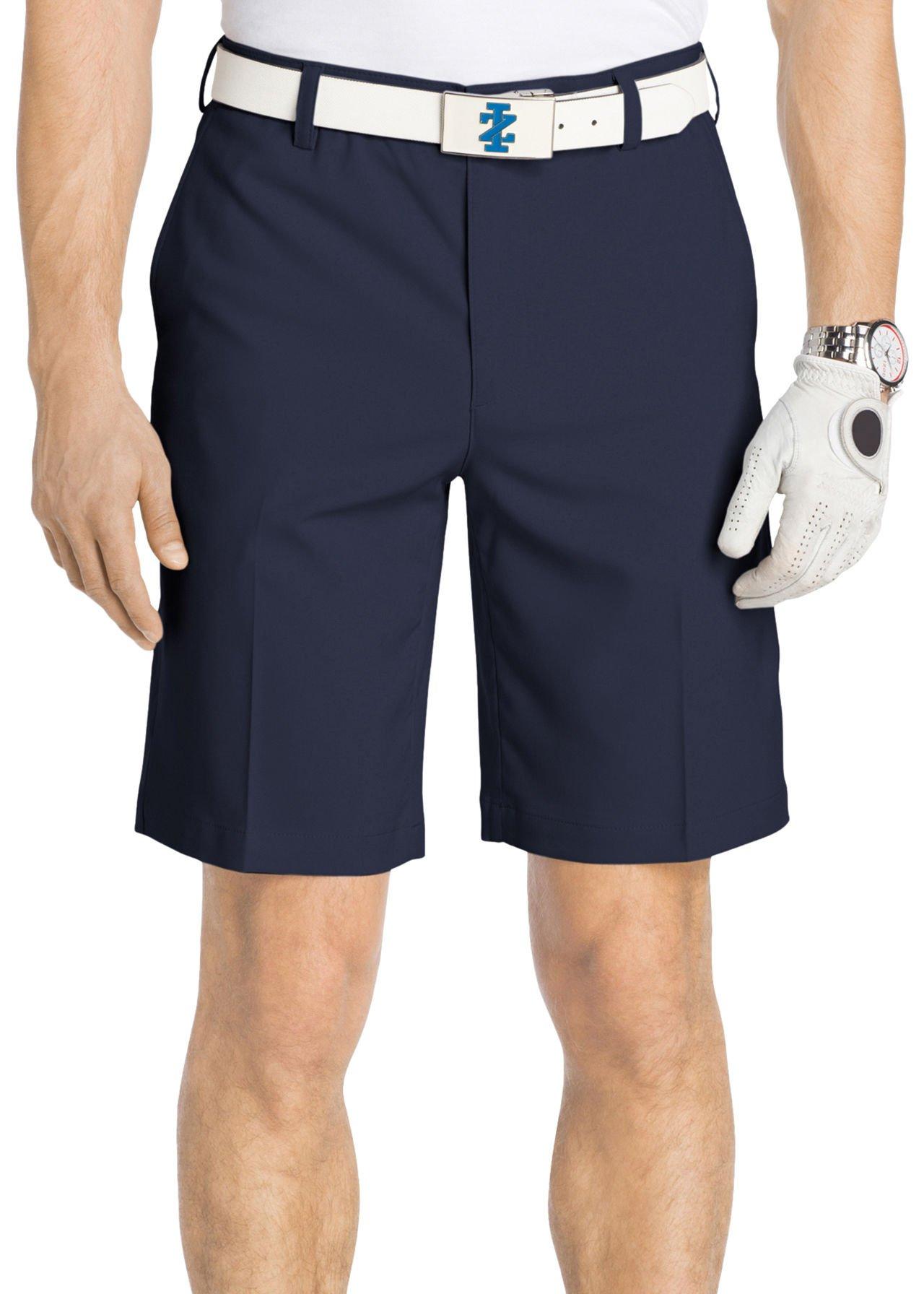 IZOD Golf Mens Micro Fit Flex Golf Shorts 42W Peacoat blue by IZOD (Image #1)