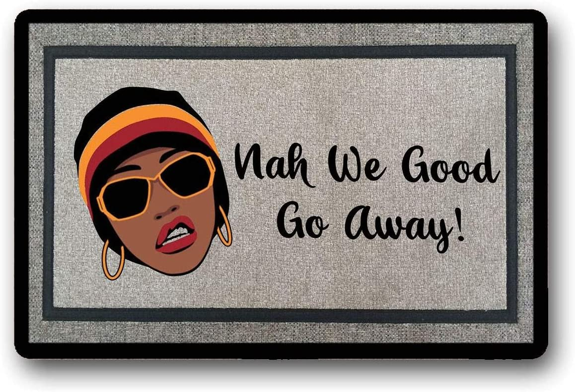 WYFKYMXX Nah We Good Door Mat, Custom Door Mat, Welcome Mat, Housewarming Gift, African American Home Decor, Monogram Door Mat, Custom Gift, Gift 23.6