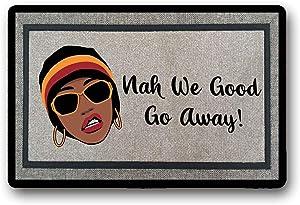 WYFKYMXX Nah We Good Door Mat, Custom Door Mat, Welcome Mat, Housewarming Gift, African American Home Decor, Monogram Door Mat, Custom Gift, Gift 23.6