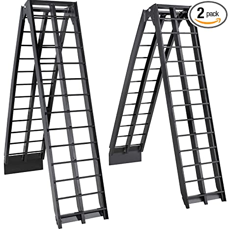 Aluminum Atv Ramps >> Bestequip Aluminum Ramps 9ft X 11 25 Inch Atv Ramps 1200lbs Capacity Truck Ramps For Car Motorcycle Loading Equipment With Attachment Hook And