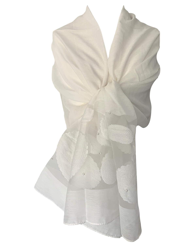 cc2760220b9 Purple Possum® Cream Pashmina Wrap Ladies Ivory Coloured Silk Blend ...