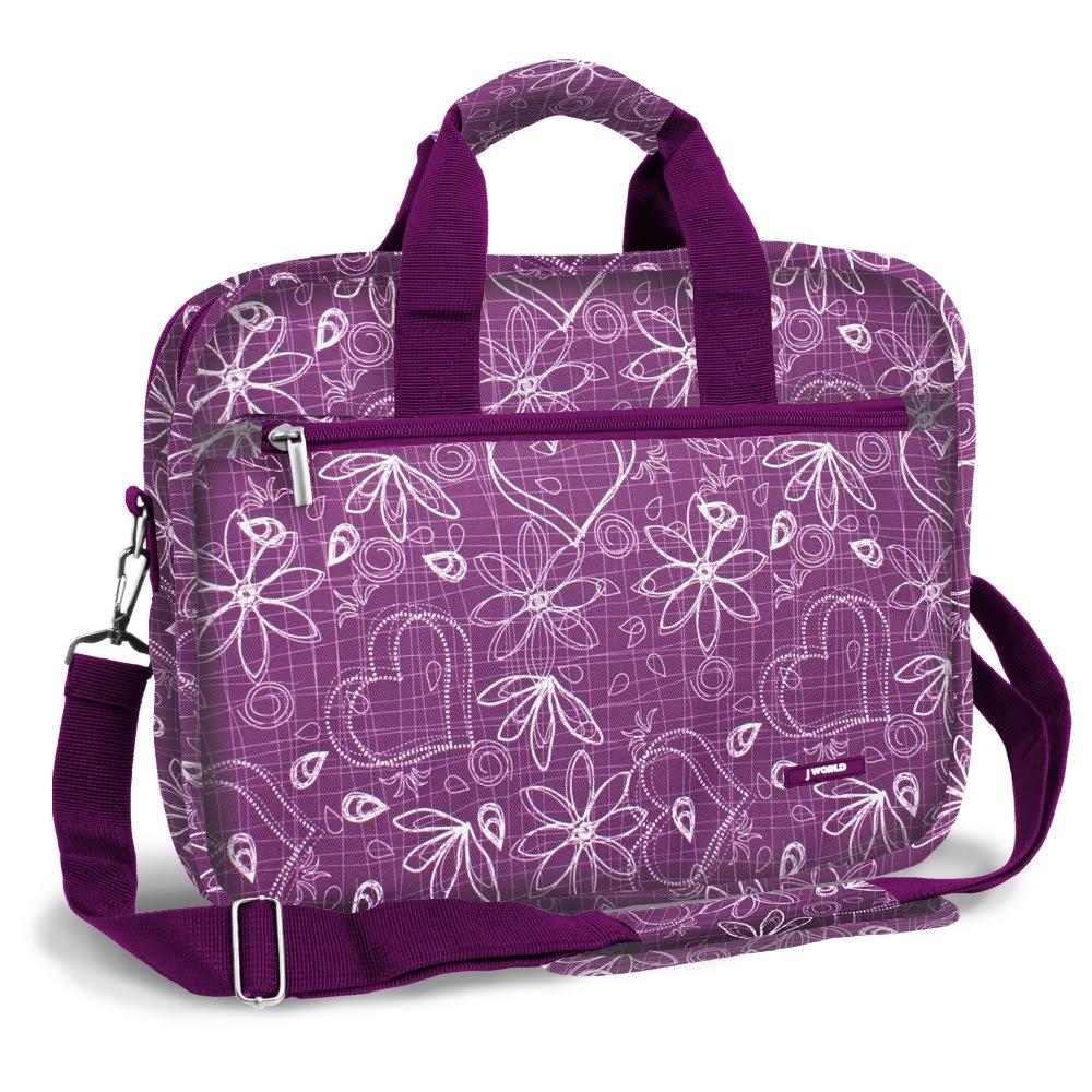 J World EXECUTIVE 15.4'' Laptop Briefcase in Love Purple