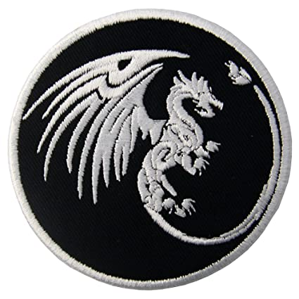 amazon com dragon symbols of power and might patch embroidered