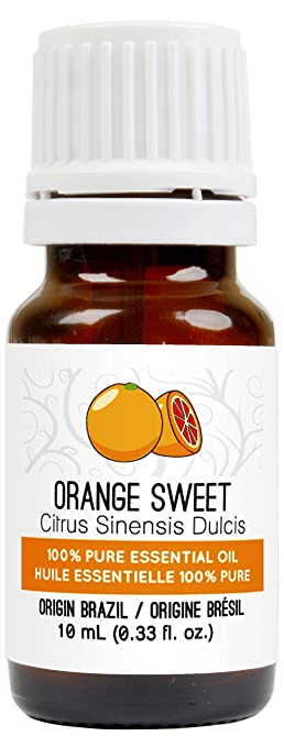 Orange Essential Oil (Sweet) 10 ml (0.33 fl. Oz.) - GCMS Tested, 100% Pure, Undiluted and Therapeutic Grade