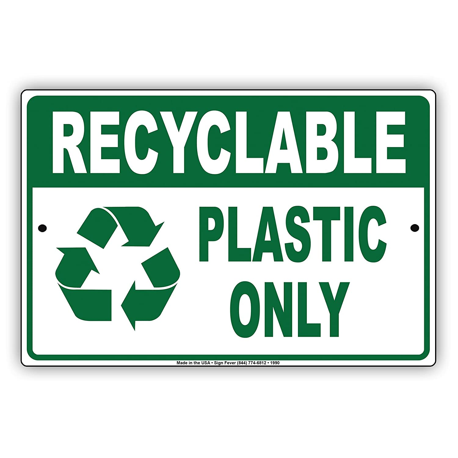Amazon com: Recyclable Plastic Only Environmental Friendly