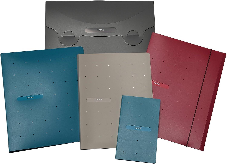 Blu Ottanio Favorit 400101774 Raccoglitore Matrix Formato Interno 22X30 cm 4 anelli Diametro 30