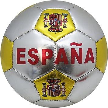 YUDA BALÓN DE Futbol, Talla 5, Pelotas de fútbol, Paneles hexagonales y pentagonales (ESPAÑA Plateado): Amazon.es: Deportes y aire libre