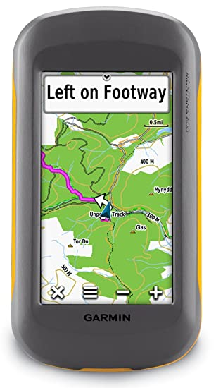 Garmin Montana 600 Handheld GPS with TOPO UK and Ireland Light Map