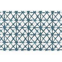 Shibori Paper Placemats Table Mats Disposable Table Linens Blue Placemats Tie Die Look Pk 50 Table Placemats