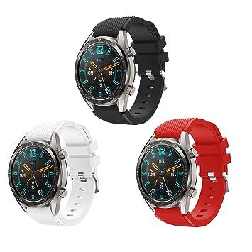 TMCCB Correa para Huawei Watch GT/Watch GT2 46mm Pulsera Banda-[3 ...