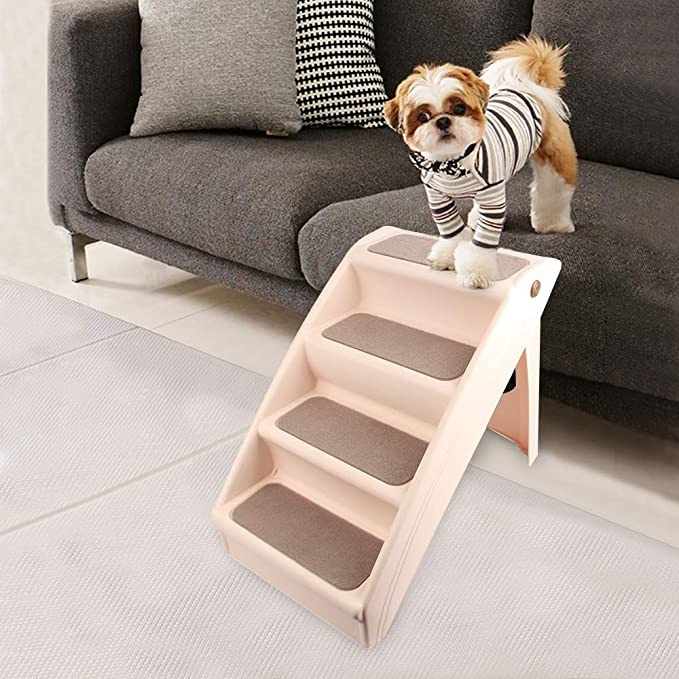Eono by Amazon Escaleras plegables para perros y gatos domésticos: Amazon.es: Productos para mascotas