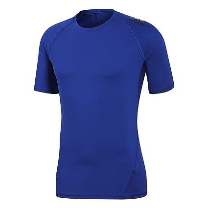 Adidas Ask SPR tee SS Camisa de Golf, Hombre, (Azul Claro),
