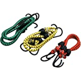 Sarthak Nylon Elastic Tying Rope with Hooks (4-6 ft) -Set of 3