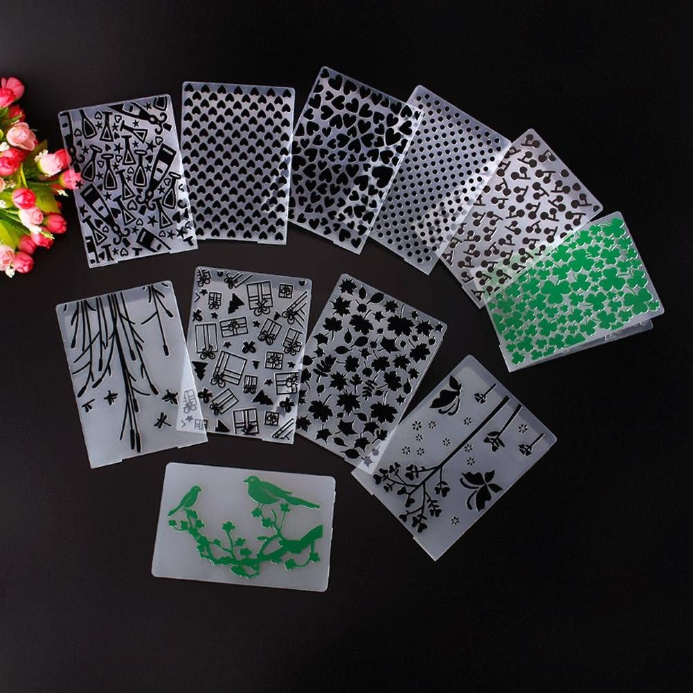 YULEKITO Kinds of Green Leaves Clear Stamps for Card Making Decoration DIY Scrapbooking