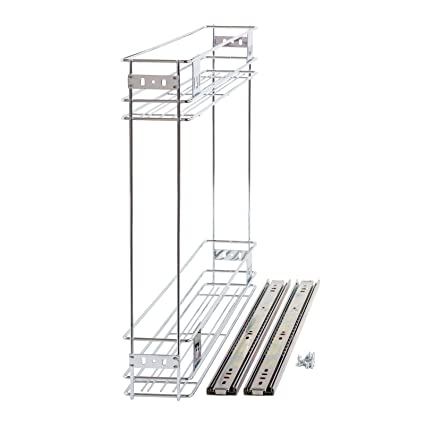 150mm slide pull out wire basket kitchen larder base unit cabinet rh amazon co uk pull out wire baskets kitchen pull out wire baskets for kitchen units