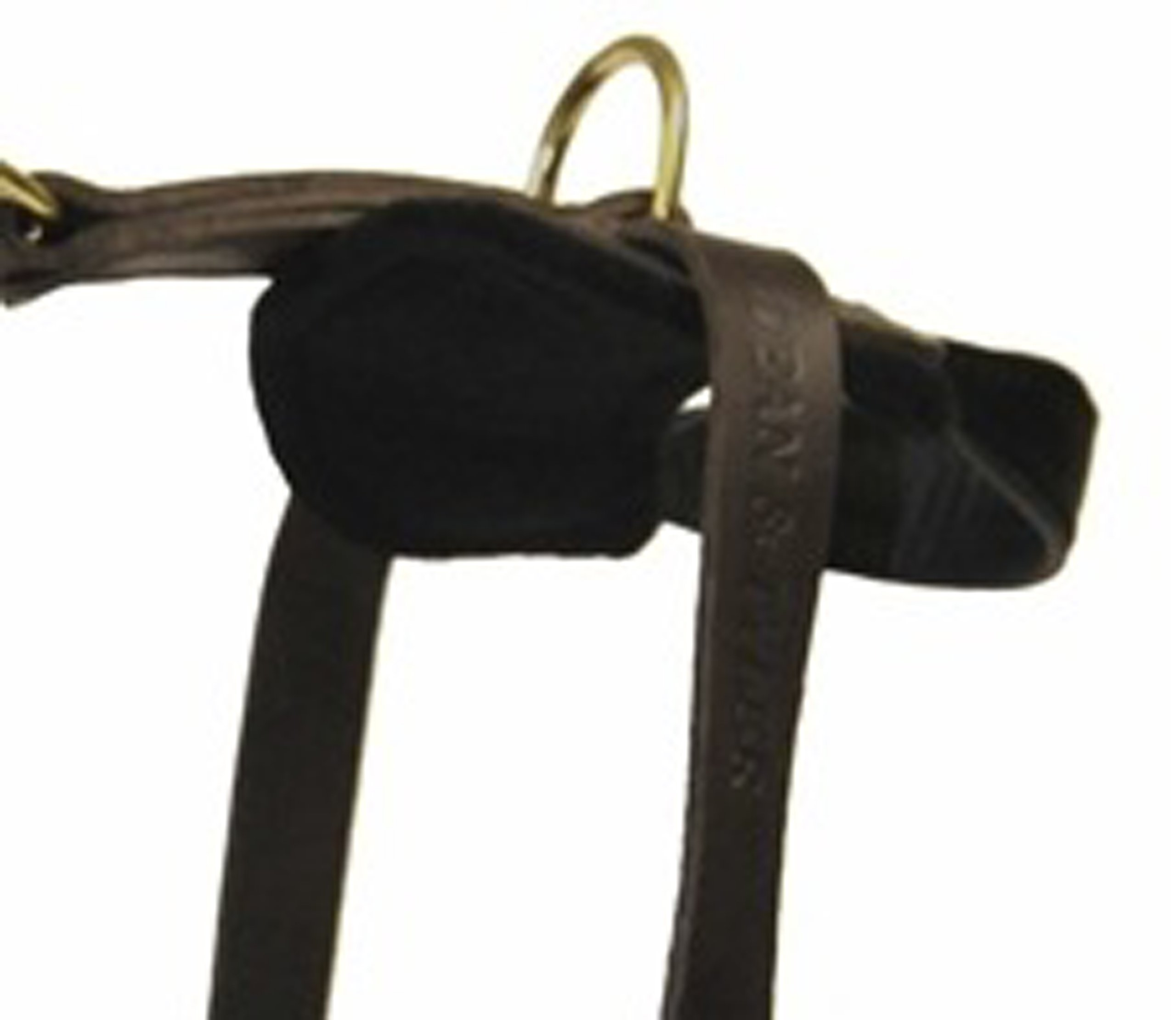 Dean and Tyler The Boss Nickel Hardware Leather Dog Harness with Handle, Brown, Large - Fits Girth Size: 31-Inch to 41-Inch