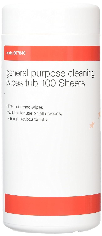 5 Star 907840 - Toallitas de limpieza para pantallas (100 unidades), color blanco: Amazon.es: Oficina y papelería