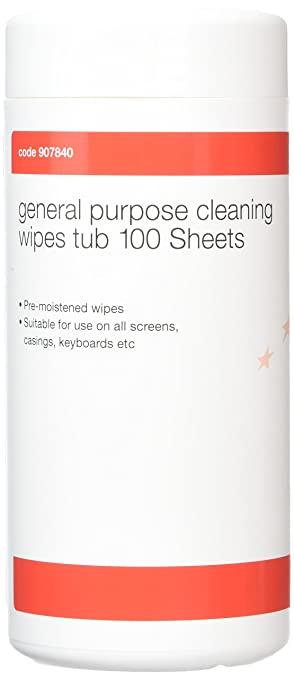5 Star 907840 - Toallitas de limpieza para pantallas (100 unidades), color blanco