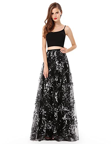 Ever Pretty Women's Elegant Two Piece Floral Printed Evening Dress 08980