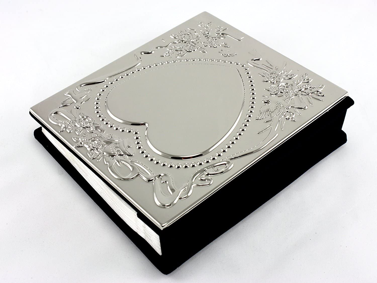 Engravable Skyway Products Heart Wedding Photo Picture Album Silver
