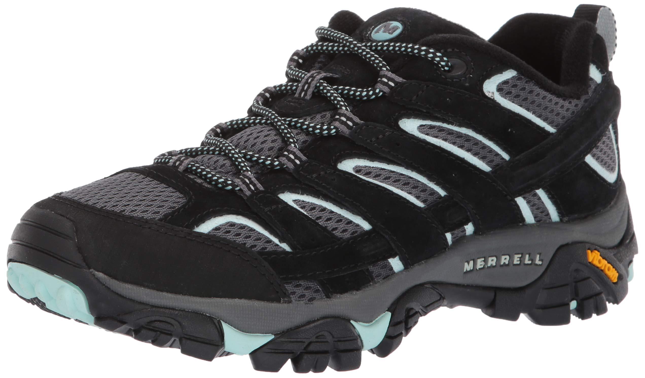 Merrell Women's Moab 2 Vent Hiking Shoe, Black Aqua 05.0 M US