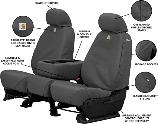 Premium Quick Use Protection for Car Carhartt Universal Coverall Seat Covers Truck and SUV Seats