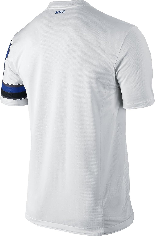 Nike Inter S/S Away Réplica Camiseta 2010/2011, hombre, blanco ...