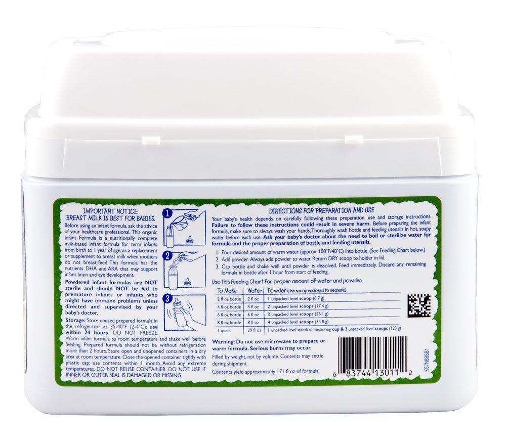 Vermont Organics Milk-Based Organic Infant Formula with Iron, 23.2 oz.  (Pack of 4) by Vermont Organics (Image #7)