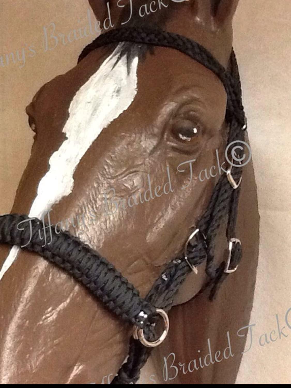 Amazon com: COBB bitless bridle horse tack black side pull