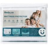 Bedsure 100% Waterproof Mattress Protector Twin XL/Twin Extra Long Size (39 x 80 inches) - Terry Cotton Hypoallergenic Mattre