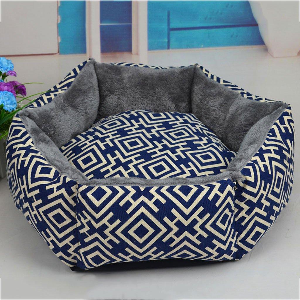 GCHOME Letto per cani cani cani Pet Bed Velluto Artico Vendo esagonale morbido e confortevole traspirante impermeabile antiscivolo resistente (blu) (dimensioni   L.) 85dd28
