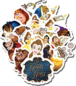 20 PCS Stickers Pack Beauty and The Beast Aesthetic Vinyl Colorful Waterproof for Water Bottle Laptop Scrapbooking Luggage Guitar Skateboard