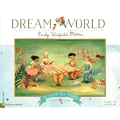 New York Puzzle Company - Dream World Mermaid Tea Party - 60 Piece Jigsaw Puzzle: Toys & Games