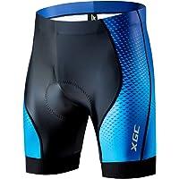 XGC Korte fietsbroek en fietsonderbroek voor heren, elastische ademende 4D-spons zitkussen met een hoge dichtheid