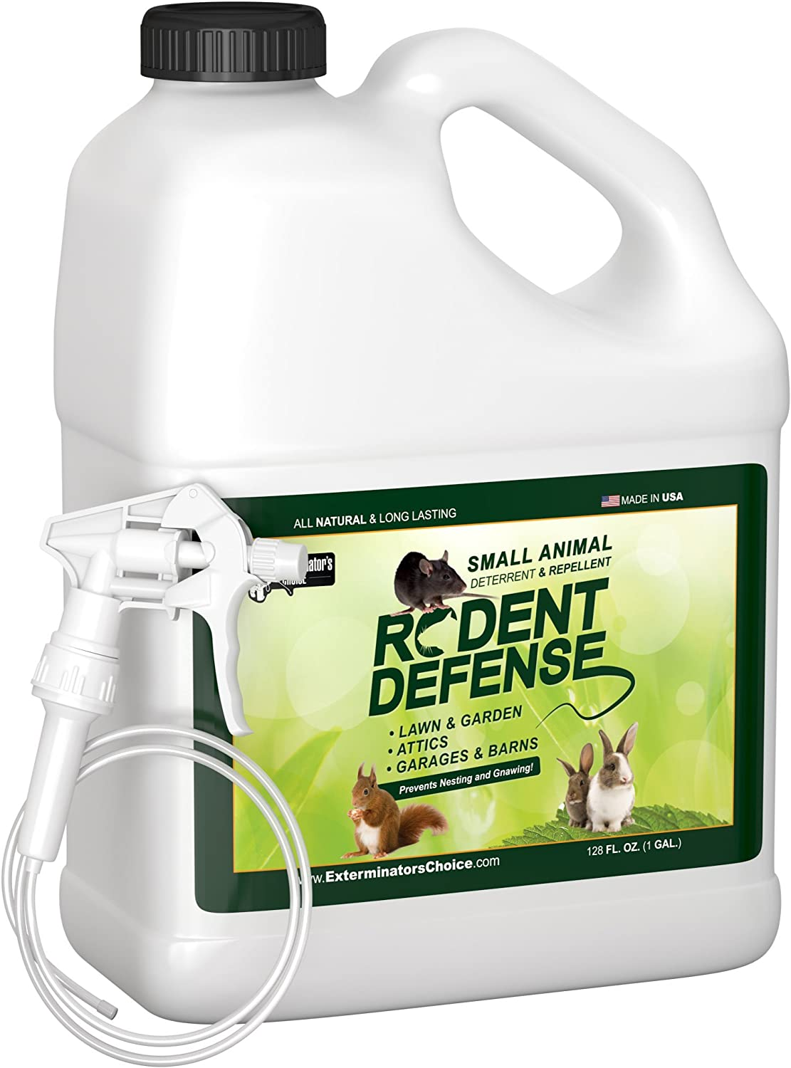 Exterminators Choice Small Rodent Defense | 1 Gallon | Small Rodent Repellent Spray | Easy Pest Control for Mice and Rats | Uses Peppermint Oil to Keep Them Away