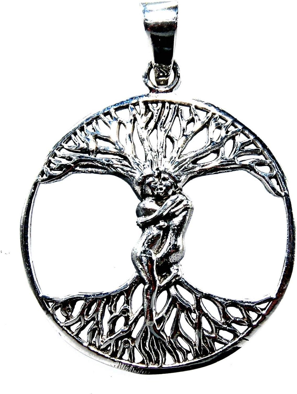 Albero della vita Ciondolo in argento 925/con nastro cotone