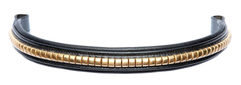 Schwarz//Braun cwell Pferde browband Messing Clincher hochwertig