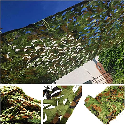 Red de Sombra de Jardín, Malla de Camuflaje Verde 6x4m 10m Red de ...