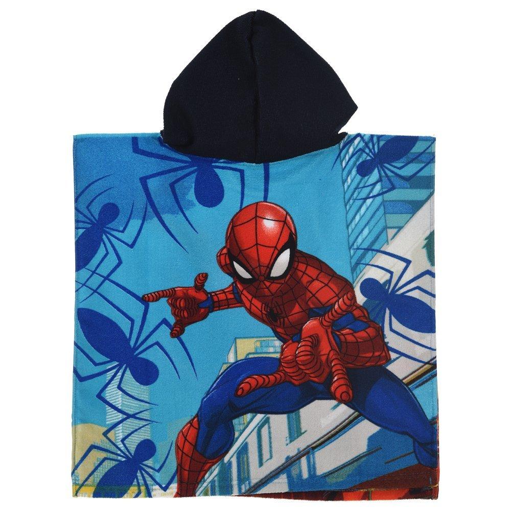 Marvel Poncho MAR Spiderman Toalla Micro CM algodón. 100X50 - ER1916 / 1: Amazon.es: Juguetes y juegos