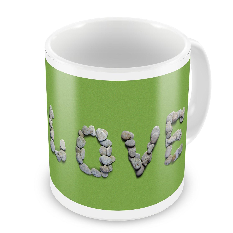 Coffee Mug Love Spa Stones - NEONBLOND