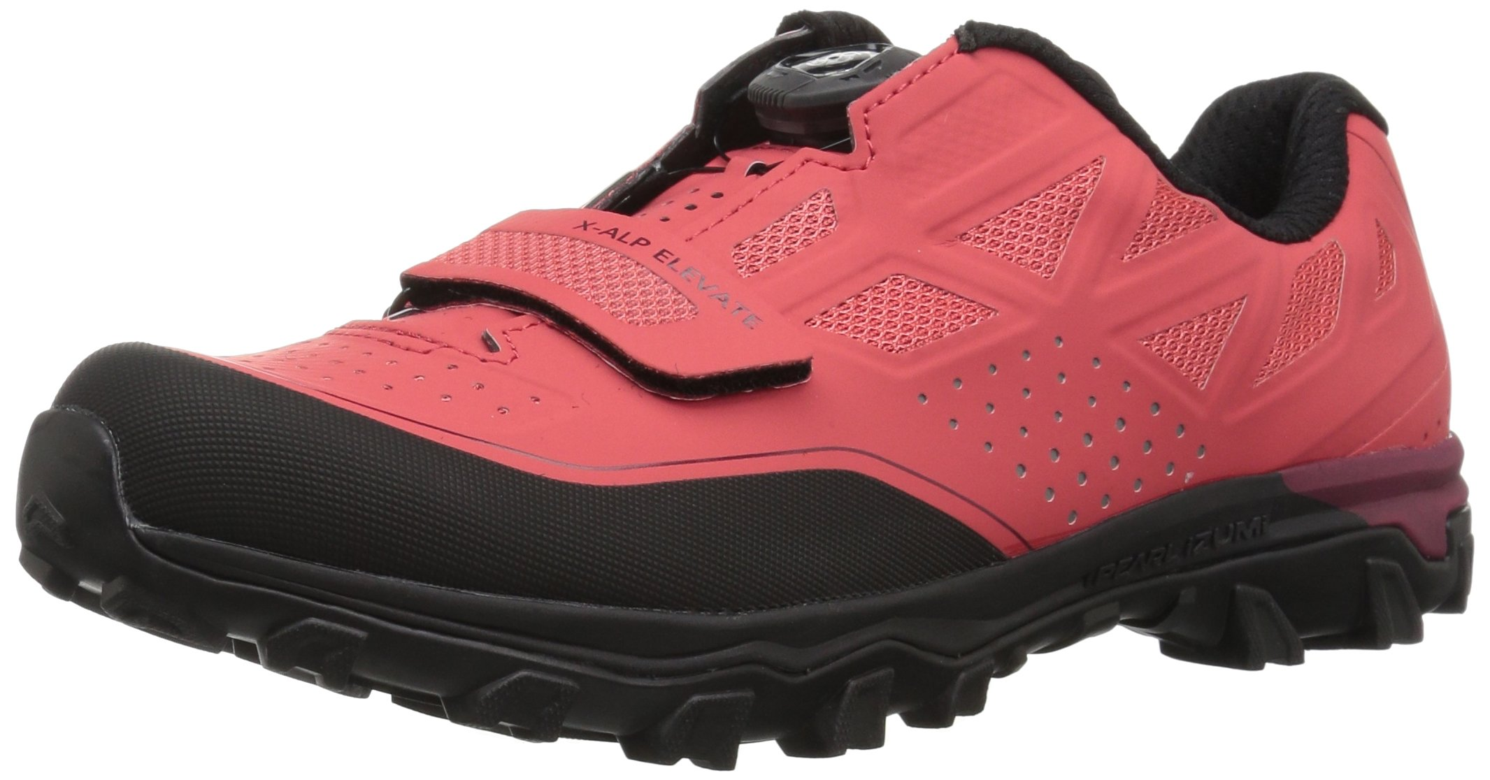 Pearl iZUMi Women's W X-Alp Elevate Cycling Shoe, Cayenne/Port, 38.0 M EU (6.8 US)
