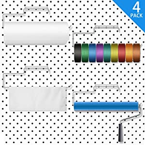 4 Packs Pegboard Paper Towel Holder Stainless Steel Pegboard Hooks Pegboard Organization Accessory for Workshop, Garage, Kitchen, Laundry Room, Bathroom (Silver)