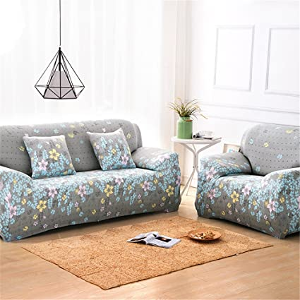 Superb Nhockeric Fashion Sofa Slipcover 2018 Sofa Furniture Cover For Big Couch Loveseat Printed Floral Cloth Slipcover Decor 1 Seater 90 140Cm Printed 10 Machost Co Dining Chair Design Ideas Machostcouk