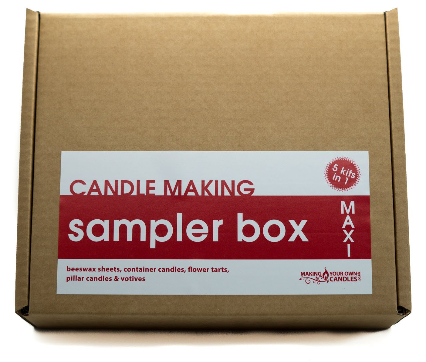 Candle Making Kit - Make 5 Different Types of Candle in 1 (Christmas Pudding Scent/Purple Dye) SALE! Perfect for Beginners MakingYourOwnCandles Ltd