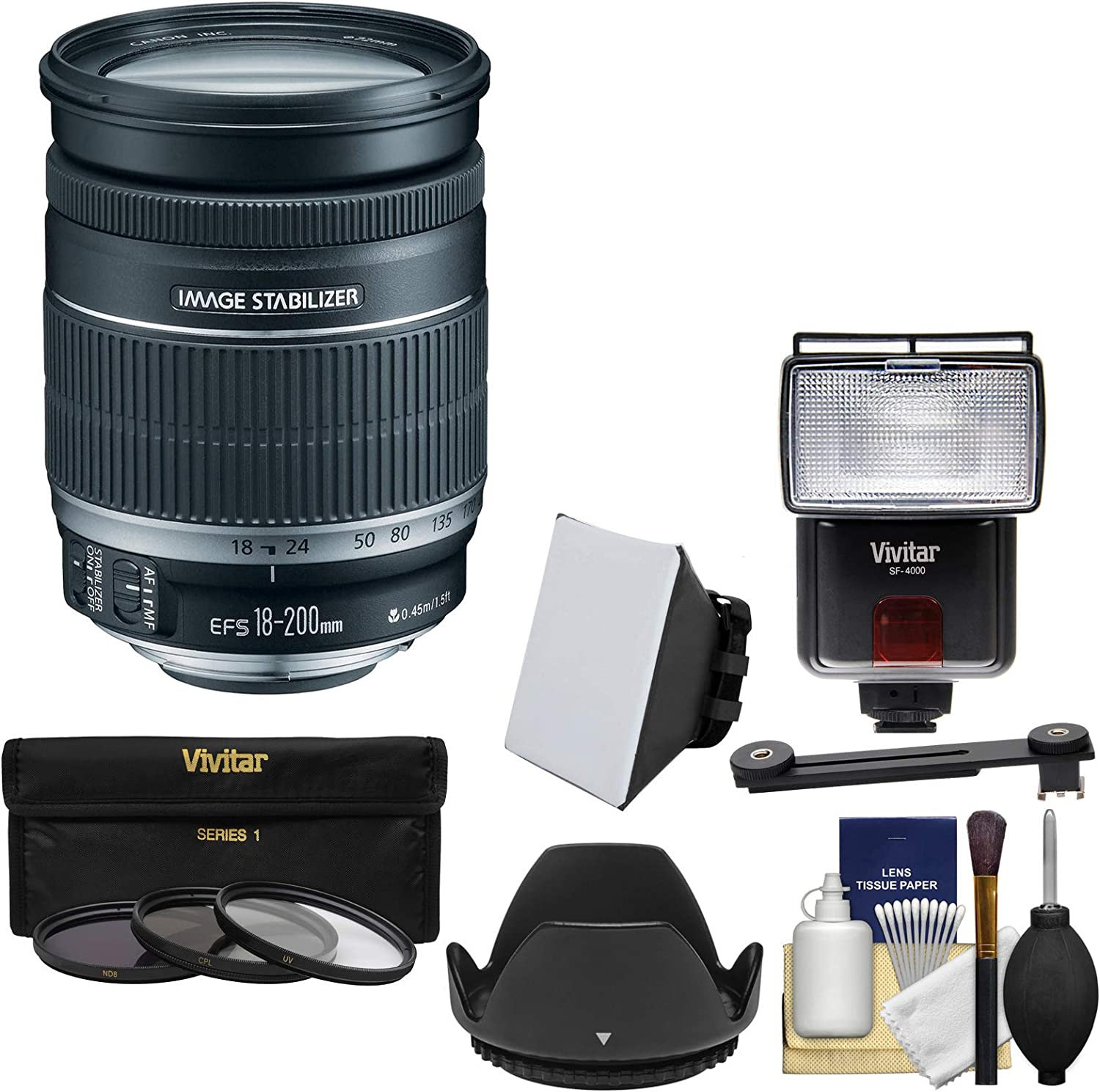 Ultraviolet UV Multi-Coated HD Glass Protection Filter for Canon EF-S 18-200mm f//3.5-5.6 IS Lens