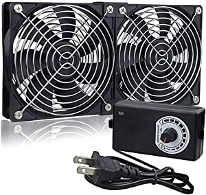 Wathai Big Airflow 120mm Fan 110V 240V AC Power Supply, Speed Controller 3V to 12V, for Mining Machine Cabinet Chassis Server Workstation Cooling