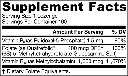 Amazon.com: Pastillas de Metil B-12 / Folato de metilo y ...